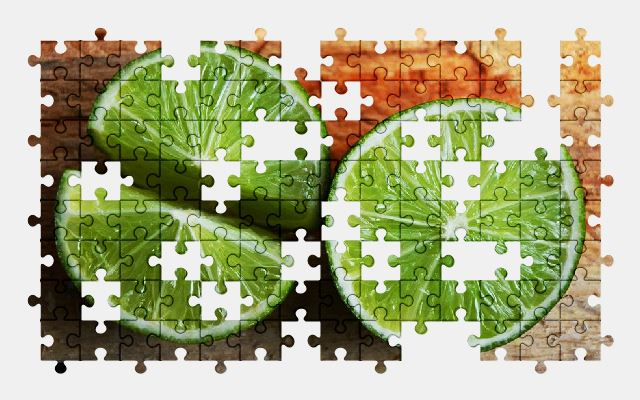 free jigsaw puzzle online lime,citrus,green,fruit,food
