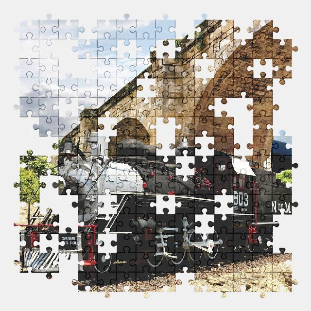 free jigsaw puzzle online locomotive,transport,old,vehicle,railway