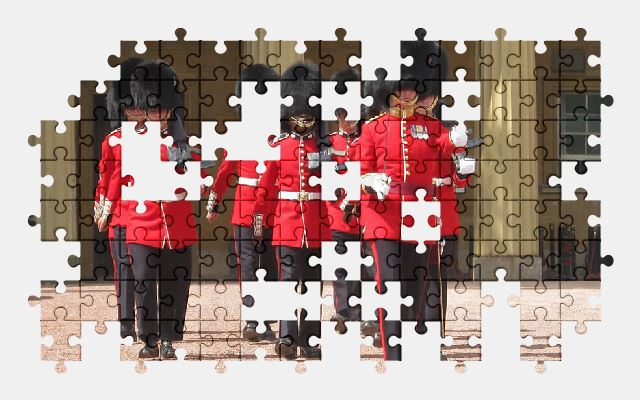 free jigsaw puzzle online london,england,guard