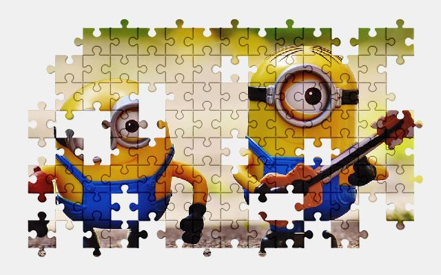 free jigsaw puzzle online minions,music,guitar,funny,cute