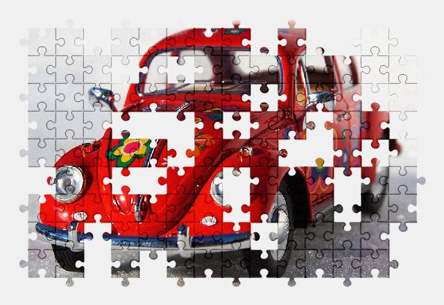 free jigsaw puzzle online car,auto,vehicle,vw,beetle,automobile