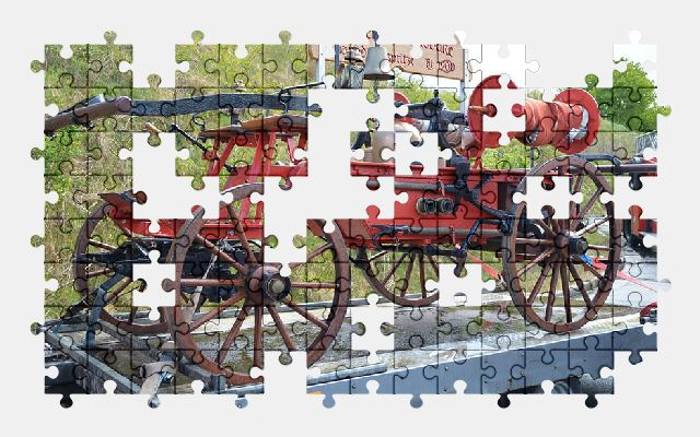 free jigsaw puzzle online old,fire-truck,retro