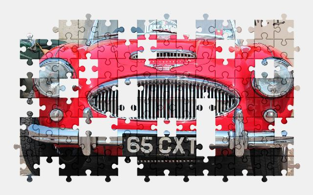 free jigsaw puzzle online austin-healey,classic,car,retro,sports-car