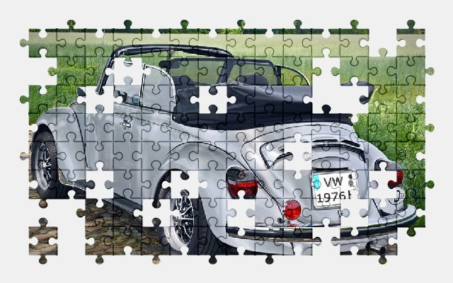 free jigsaw puzzle online beetle,classic,car