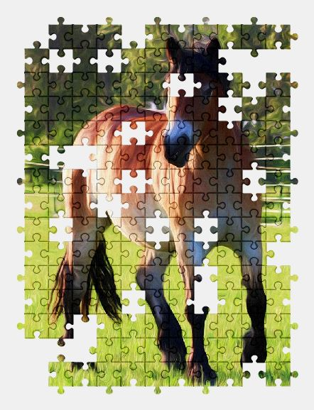 free jigsaw puzzle online painting,art,horse,animal
