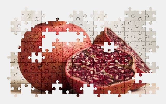 free jigsaw puzzle online pomegranate,fruit,food