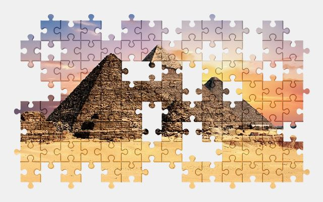 free jigsaw puzzle online pyramid,egypt,monument,architecture