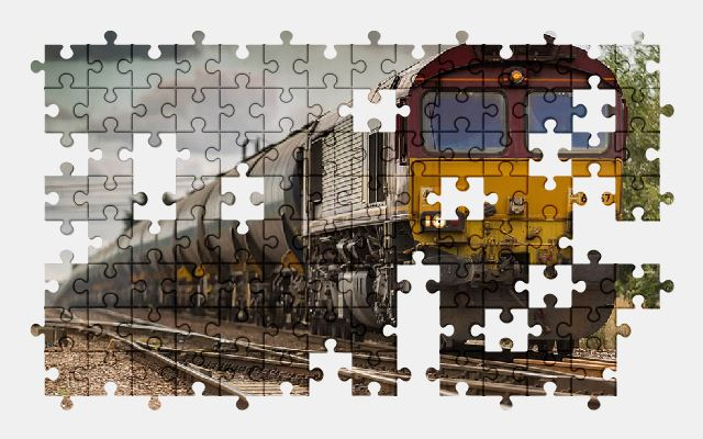 free jigsaw puzzle online railway,station,train