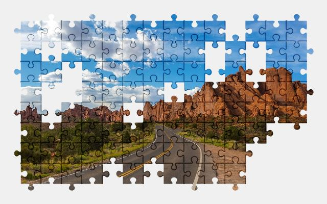 free jigsaw puzzle online road,utah,usa,landscape,travel,nature