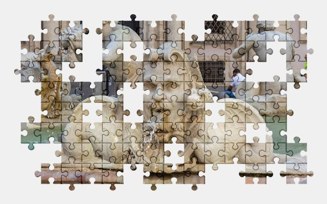 free jigsaw puzzle online rome,fountain,italy