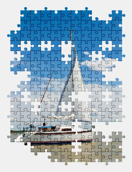 free jigsaw puzzle online boat,water,nature,sky