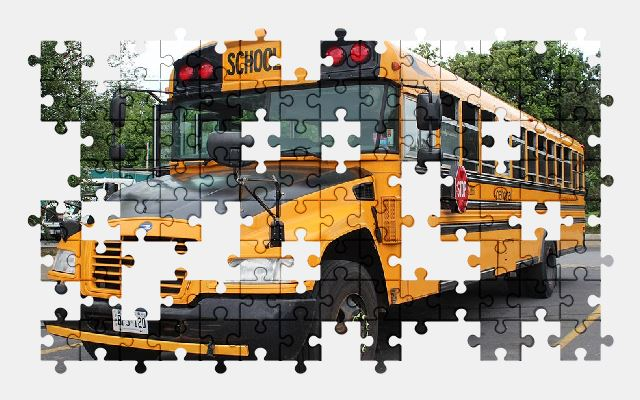 free jigsaw puzzle online school-bus,transport,school,bus,vehicle