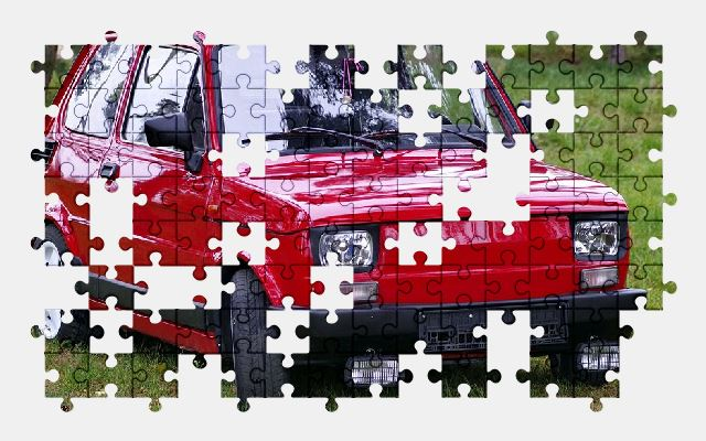 free jigsaw puzzle online fiat,car,auto,red,automobile,vehicle