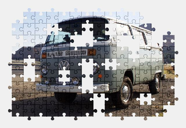 free jigsaw puzzle online road,volkswagen,vintage,vehicle,bus,vw