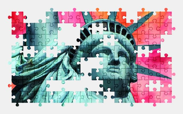 free jigsaw puzzle online statue,new-york,monument