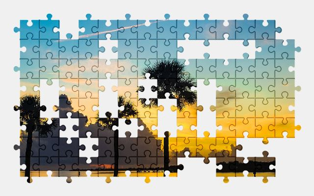 free jigsaw puzzle online sunrise,ocean,sea,colorful,nature