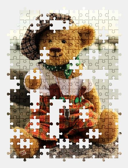 free jigsaw puzzle online bear,animal,toy