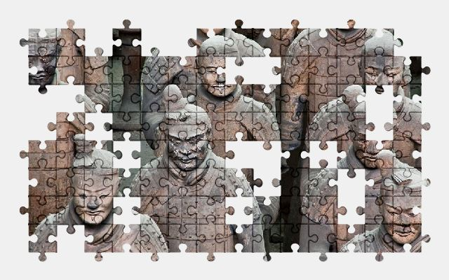 free jigsaw puzzle online army,china,soldier,statue,sculptures