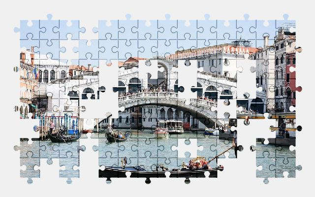 free jigsaw puzzle online venice,bridge,italy,architecture,city