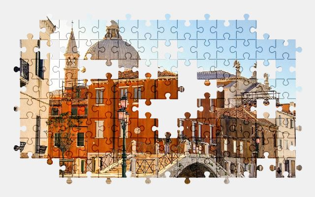 free jigsaw puzzle online venice,italy,church,buildings,city