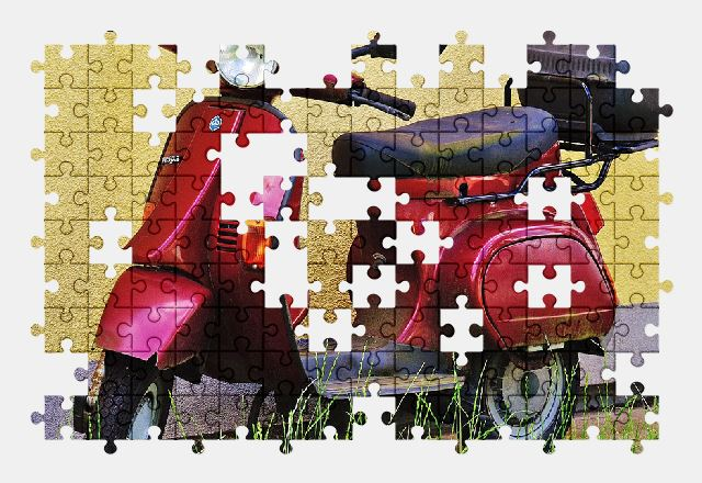 free jigsaw puzzle online vespa,scooter,moped