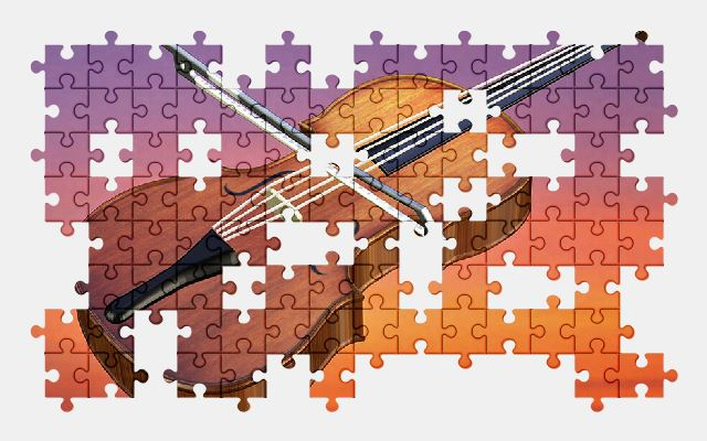 free jigsaw puzzle online violin,music