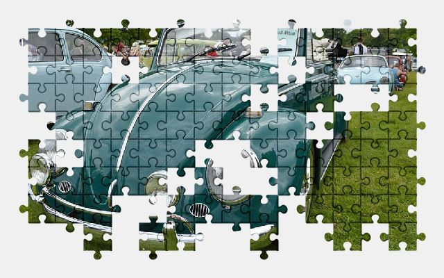 free jigsaw puzzle online volkswagen,beetle,classic,car,vehicle