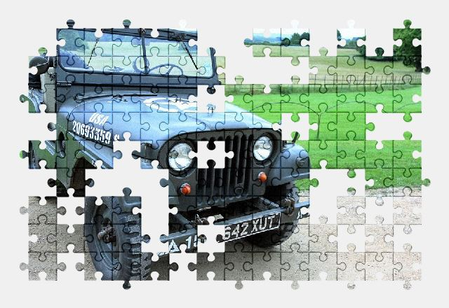 free jigsaw puzzle online jeep,vintage,old,car,vehicle
