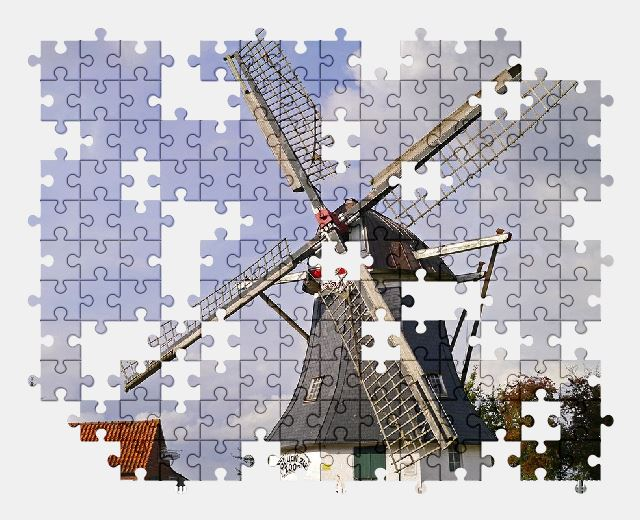 free jigsaw puzzle online windmill,mill,building