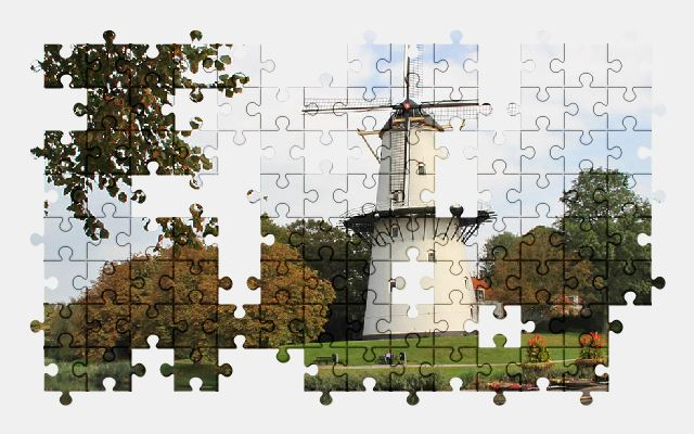 free jigsaw puzzle online windmill,holland,mill,historically